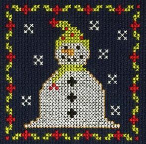 DMC Counted Cross Stitch Kit - Jolly Snowman
