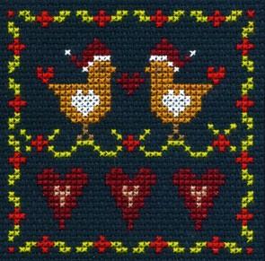 DMC Counted Cross Stitch Kit - Love Birds