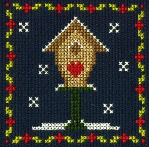 DMC Counted Cross Stitch Kit - Birdhouse