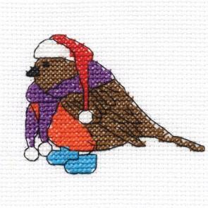 DMC Cross Stitch Kit - Robin - Mini Christmas Kit