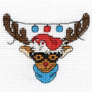 DMC Cross Stitch Kit - Rudolph - Mini Christmas Kit