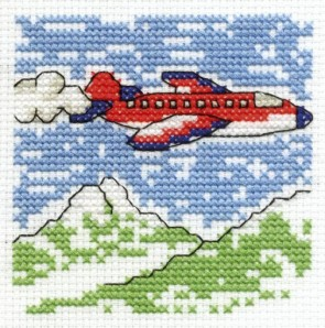 DMC Cross Stitch Kit - Make A Wish - Fly A Plane