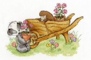 DMC Cross Stitch Kit - Woodland Folk - Wheelbarrow Ride