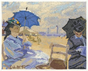DMC Cross Stitch Kit - The National Gallery - Claude Monet - The Beach at Trouville