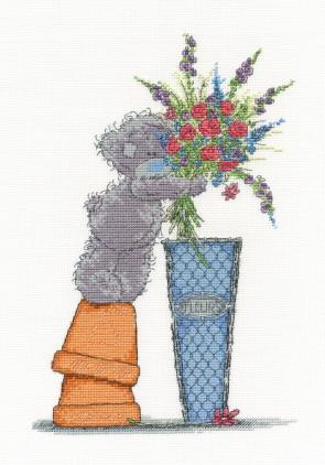 DMC Cross Stitch Kit -Tatty Teddy - Fresh Bouquet