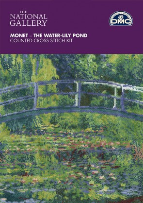 DMC Cross Stitch Kit - The National Gallery - Monet - The Water-Lily Pond