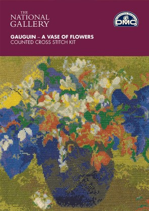 DMC Cross Stitch Kit - The National Gallery - Gauguin - A vase Of Flowers