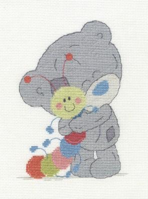 DMC Cross Stitch Kit - Tatty Ted - My Friend Mr Caterpillar