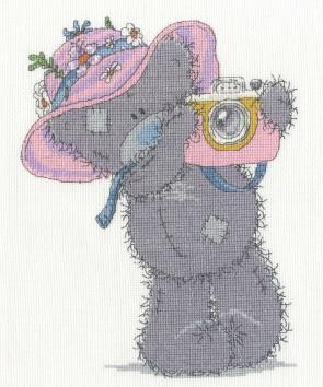 DMC Cross Stitch Kit - Tatty Ted - Snapshots In The Sun