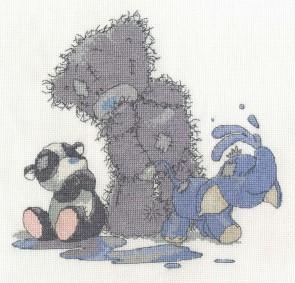 DMC Cross Stitch Kit - Tatty Ted - Making A Splash
