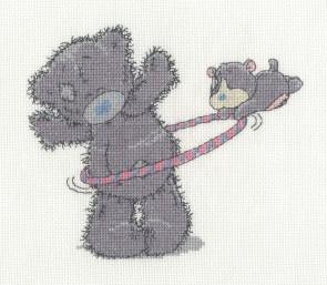 DMC Cross Stitch Kit - Tatty Ted - Hula Hoop