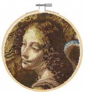 DMC Counted Cross Stitch Kit - Angel, From The Virgin Of The Rocks