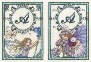 DMC Cross Stitch Kit - The Heliotrope Fairy and The Lavender Fairy