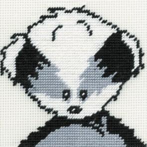 DMC Childrens Tapestry Kit - Woodland Folk - Bert Badger