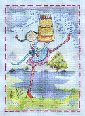DMC Cross Stitch Kit - Lili Loves - Lili Loves Wishes