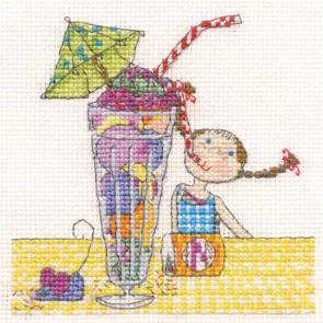 DMC Cross Stitch Kit - Lili Loves - Lili Loves Milkshake