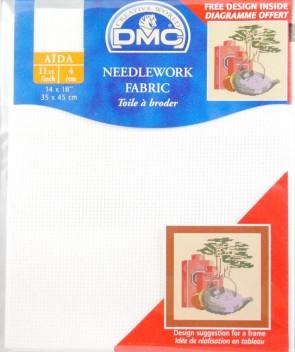 11 Count Aida Fabric 14x18 Inches (35x45cm) - Blanc - DC17/10