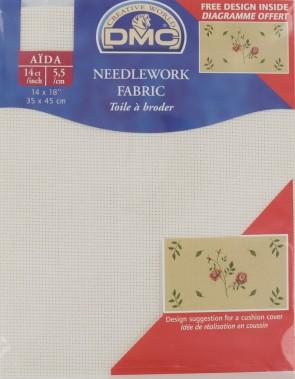 14 Count Aida Fabric 14x18 Inches (35x45cm) - Ecru - DC27/10