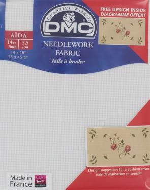 14 Count Aida Fabric 14x18 Inches (35x45cm) - Blanc - DC27/10