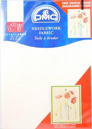 14 Count Aida Fabric 20x30 Inches (50x75cm) - Ecru - DC28/10