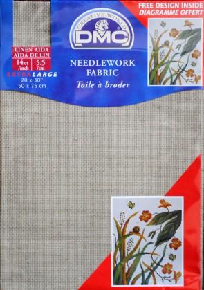 DMC 14 Count Linen Fabric 20x30 Inches (50x75cm) - DC28L 842