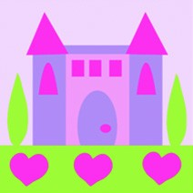 DMC Childrens Tapestry Kit - Princess Castle - C09N143K