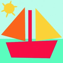 DMC Childrens Tapestry Kit - Sail Boat - C09N151K